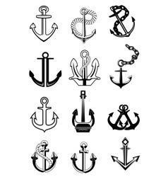 Ship anchors set vector image