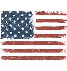 American Flag Grunge Background Template vector image vector image
