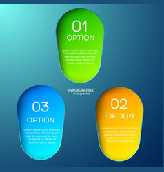 Three options 3d infographic vector
