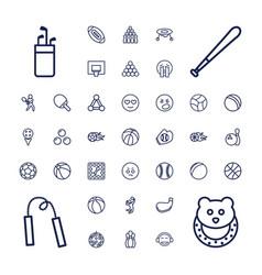 37 ball icons vector