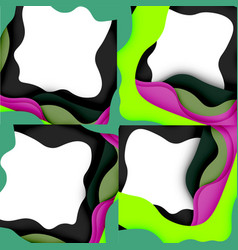 abstract geometric pattern 3d paper layers cut vector image