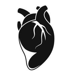 anatomy human heart icon simple style vector image