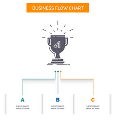 award trophy win prize first business flow chart vector image