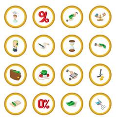 bank icon circle vector image