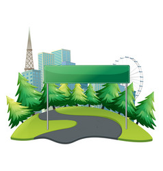 Banner template with city in background vector