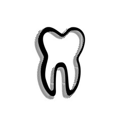 black tooth icon vector image