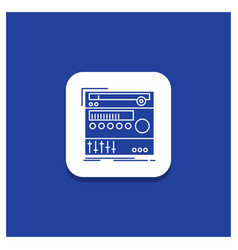 blue round button for rack component module sound vector image