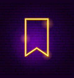 bookmark neon sign vector image