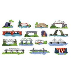 bridge bridged urban crossover architecture vector image
