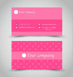 Business card set template vector