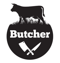 butcher vector image