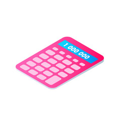 Calculator cartoon isolated single icon vector