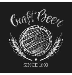 Carft beer chalk badge vector