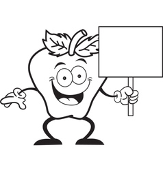 Cartoon Apple Sign vector image