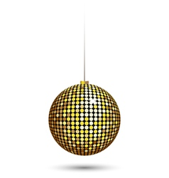 Christmas ball isolated on white vector image