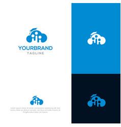 cloud academy logo template vector image