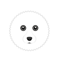 Cute bichon frise dog avatar vector