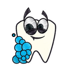 dental care cartoon vector image