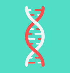 Dna flat icon medicine and healthcare genetic vector