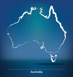 Doodle Map of Australia vector
