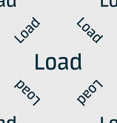 Download now icon Load symbol Seamless pattern vector