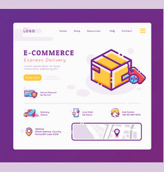 E-commerce and delivery service landing page vector