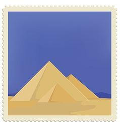 egypt post stamp vector image