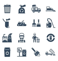 Garbage Disposal Black Icons vector