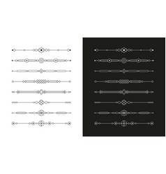 Geometric page dividers set vector