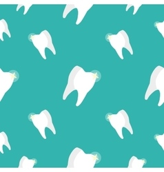 Healthy Teeth Seamless Pattern vector image