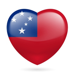 Heart icon of Samoa vector