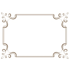 horizontal frame Element for design vector image