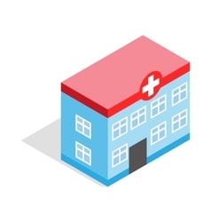 Hospital building icon isometric 3d style vector