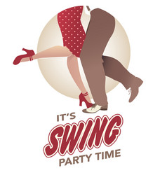 its swing party time legs man and woman vector image