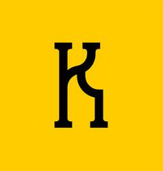 K letter old russian font national folk alphabet vector