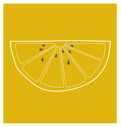 Lemon wedge vector