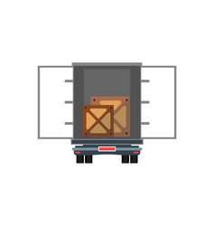 Loading freight truck isolated icon vector