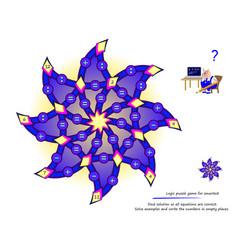Logic puzzle game for smartest find solution so vector