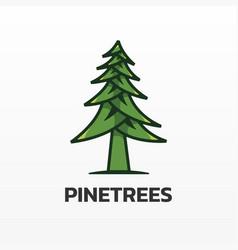 logo pine simple mascot style vector image