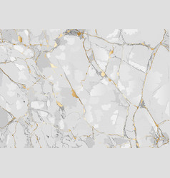 Marble background with golden texture vector