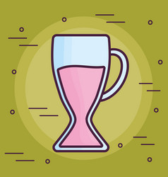 Milkshake glass icon vector