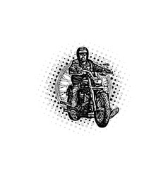 moto rider vector image