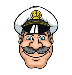 Moustached sailor or ship captain vector