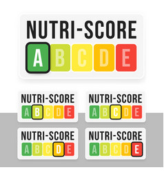 Nutri-score system in france sign health care vector