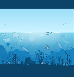 ocena plastic pollution vector image