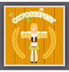 Oktoberfest Festival Celebration Poster Symbol vector image