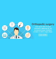 Orthopedic surgery banner horizontal concept vector