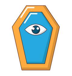 pharaoh coffin icon cartoon style vector image