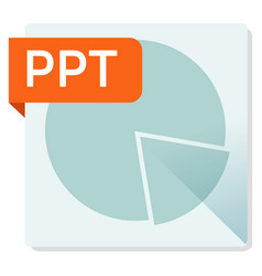 Ppt document file format square icon vector