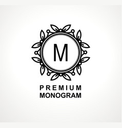 Premium monogram template for your emblems logos vector